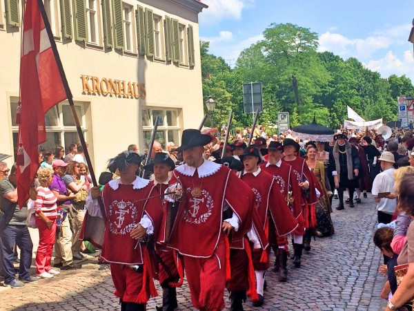 Danish delegation from Haderslev at Luthers Wedding parade in Wittenberg.