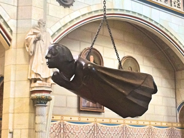 Ernest Brach sculpture in All Saints Church: The entrance to the Brach/Kollwits exposition is in the entrance part corner of the church. Worth a visit.
