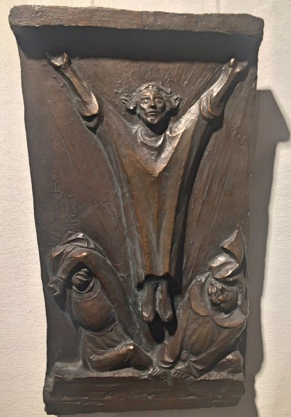Ernst Barlach, The Resurrection 1917. Bronche From the Exposition in the Royal Palace in Wittenberg.