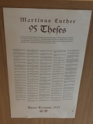 Martin Luthers 95 Theses.