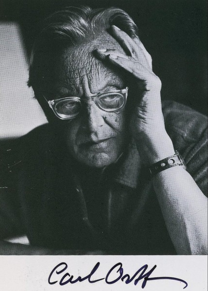 Carl Orff. Photo  media.liveauctiongroup.net