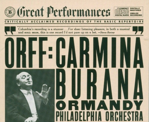 Eugene Ormandy recorded «Carmina Burana» in 1960. Photo music-bazaar.com