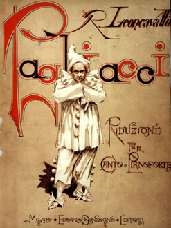 Cover of the first edition of Pagliacci published by E. Sonzogno, Milan, 1892