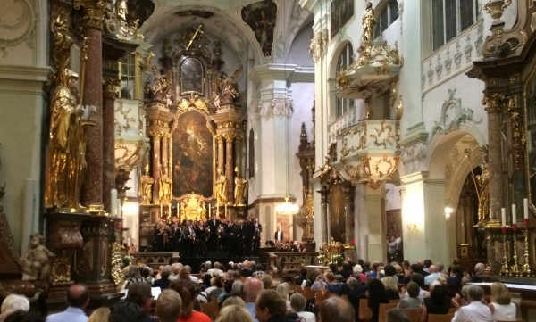 Mozart-mass in St. Peter's in Salzburg. Photo: Torkil Baden