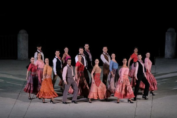 Dansekompaniet Compania Antonio Gades, som blant annet fremførte fyrrig flamenco.