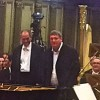 Boris Berezovsky (right)  and Christian Mandeal,(left) after a successfull Rachmaninoff, surrounded by the Philharmonia Orchestra, who, I am sure, was feeling packed at the small stage. But the acoustic is brilliant. Foto Henning Høholt