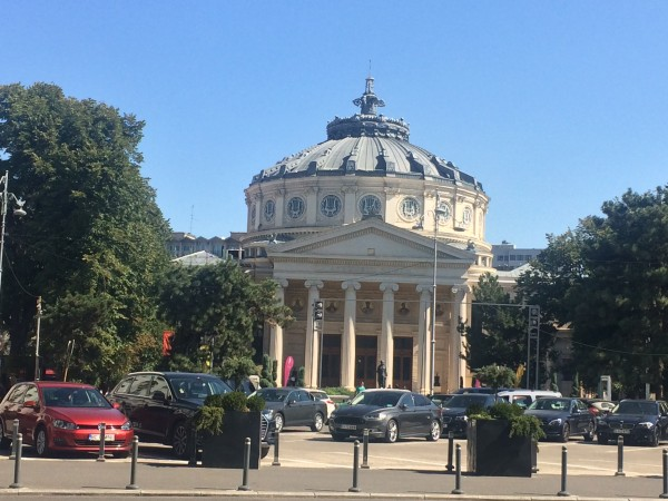 Atheneum in Bucuresti, Romania, where some of the outstanding concerts during the Enescu Festival is being performed. Foto Henning Høholt