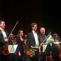 Øyvind Bjorå og Karl-Heinz Steffens mottar applaus og har fått blomster etter Richard Strauss fantastiske Ein Heldenleben med Den Norske Operas Orkester i Oslo, 13.10.2017. Foto Henning Høholt