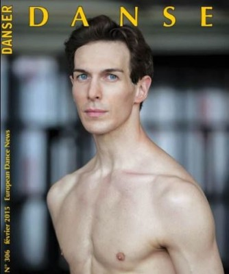 Evan McKie at the front page of the Frensh DANSE. Photo: DANSE