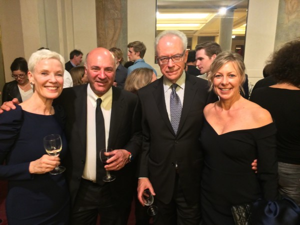 At the Paris premiere party 3.10.2017: From left Balletchief Karin Kain, Dennis O Leary, ms Kains husband and mr Learys wife. Foto Henning Høholt.