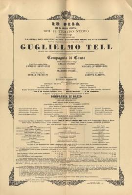 ORIGINAL POSTER Guglielmo Tell Pisa 1867