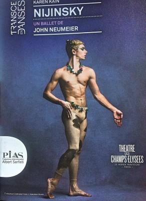 Nijinsky - Francesco Gabriele Frola as the Faun,  - with Ballet National du Canada, - Karen Kain.  Program front page