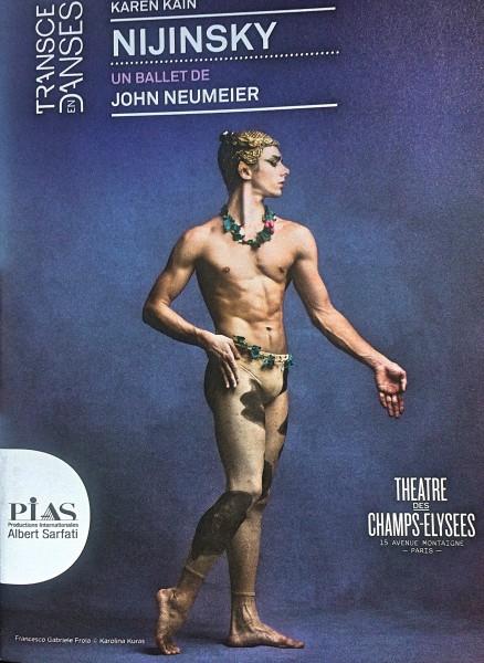 Nijinsky with Ballet National du Canada, - Karen Kain.  Program front page