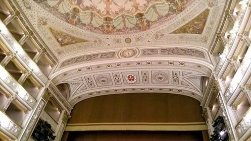 Teatro Verdi in Pisa, Interior detail. Foto Fabio Bardelli