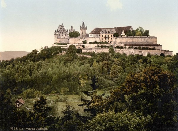 The Veste as it looked in the late 19th century or early 20th century