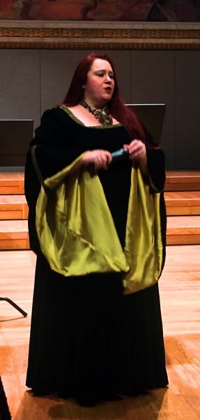 Gjøril Songvoll var glimrende som Sieglinde i Valkyriens første akt med Thomas Ruud sim Siegmund. Foto Tomas Bagackas