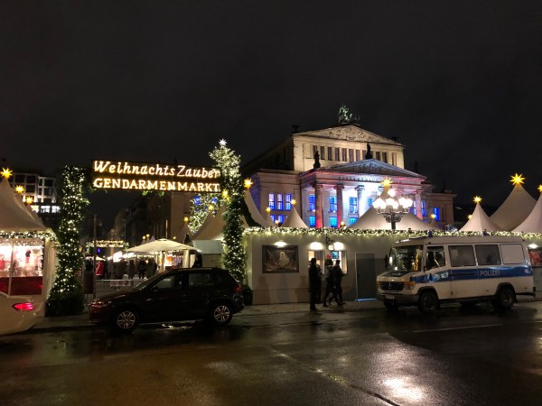 We enjoyed Gendarmenmarkt, where there even was a performance stage in front of the Concertpalais, and also live music inside one of the cafes.