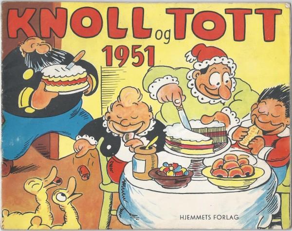 Knold og Tot, - en historisk forside fra 1951, fra forfatteren Synnøve Elisabeth Nords privat arkiv.